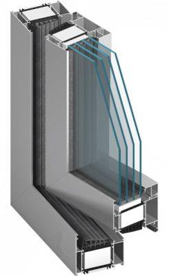 Aluminium Fenster MB-104 PASSIVE