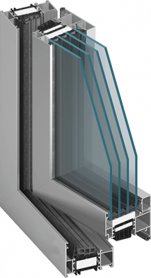 Aluminium Fenster MB-86 ST
